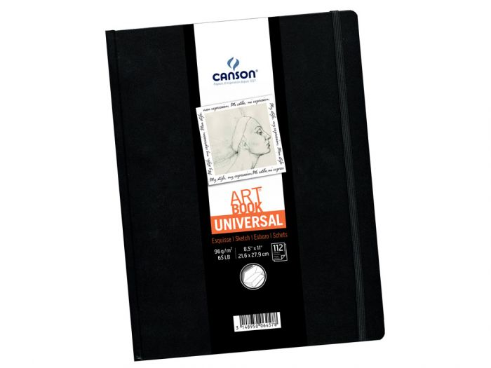 Eskiisiplokk Art Book Universal 21,6x27,9cm 96g 112lehte. kõvaköide kummiga