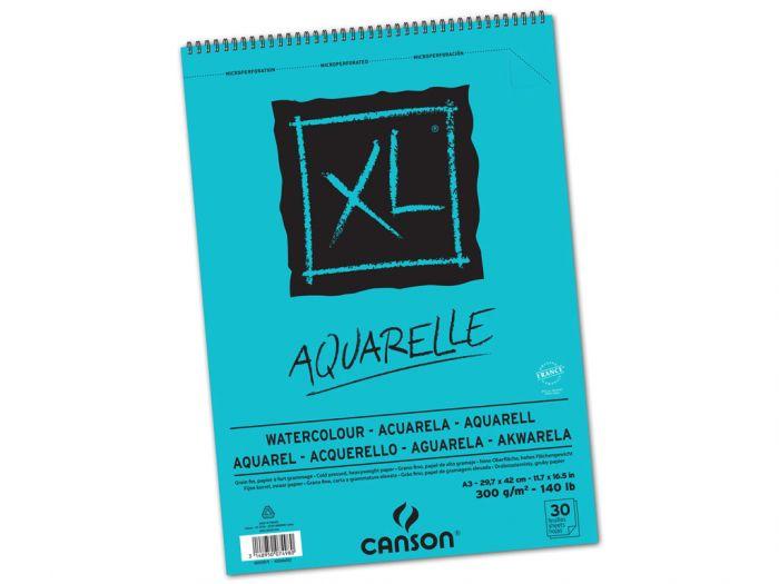 Akvarellplokk XL Aquarelle A3 300g, 30lehte, spiraalköide