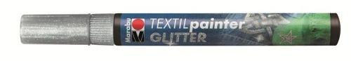 Marker tekstiilile glitter 3mm 582 silver