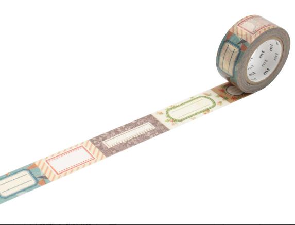 Paberteip dekoreerimiseks Washi teip mt ex 20mmx10m label
