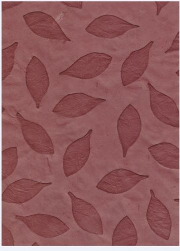 Nepaali paber A4 Leaves Imprint VD Cranberry