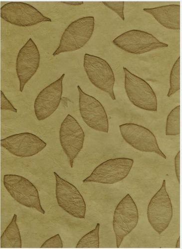 Nepaali paber A4 Leaves Imprint VD Olive Green