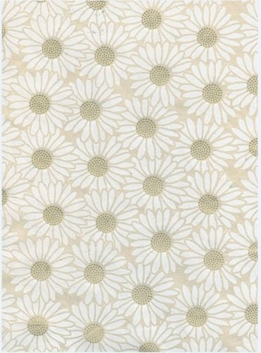 Nepaali paber A4 Daisy Flower White on Natural
