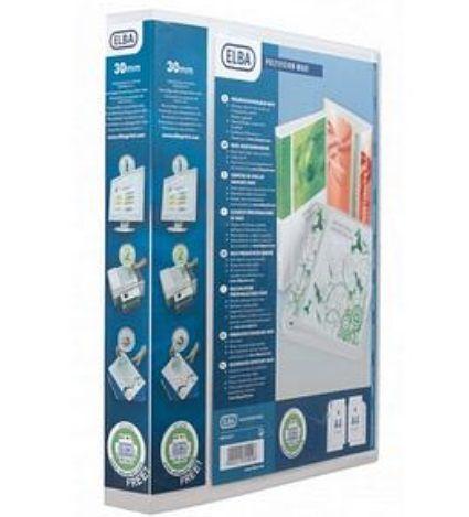 Rõngaskaaned Elba A4 Maxi 4- rõngast 40mm ( selg 60mm),läbipaistev plastik,esikaane tasku