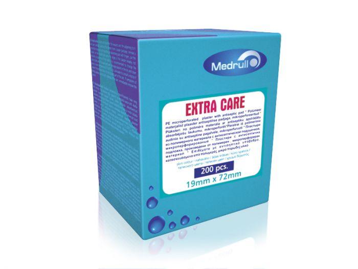 Haavaplaaster Medrull Extra Care antiseptic 1,9*7,2cm 200tk/pk
