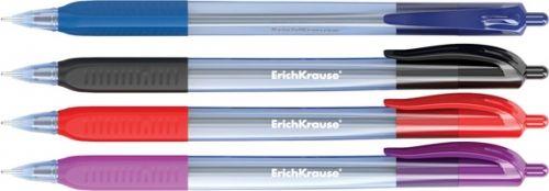 Pastapliiats Erich Krause Ultra Glide U-29, kuul 0,6/ joon 0,4mm, must,klõpsuga,kummist sõrmetugi