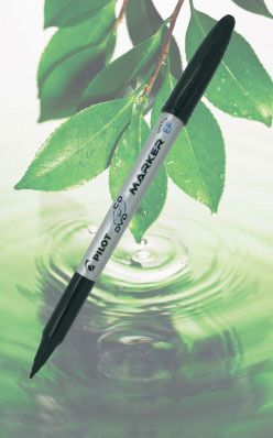 Marker Pilot CD/DVD  EF, joon 0,6 mm,must BEGREEN 88,8%,