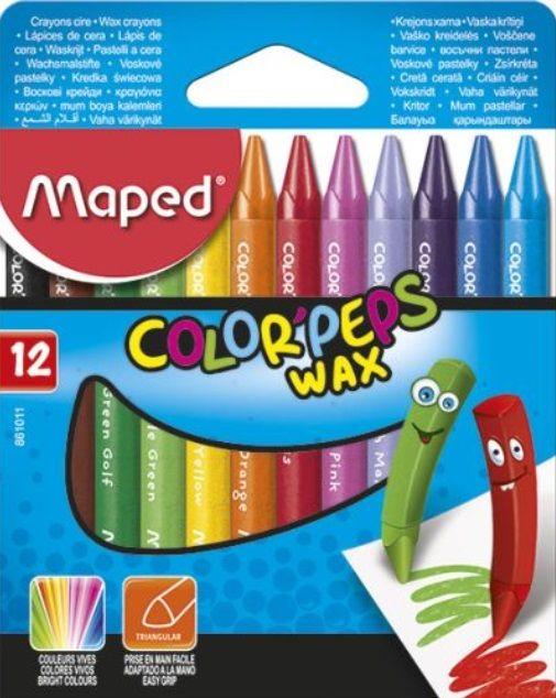 Rasvakriit Color Peps 12 värvi, Maped