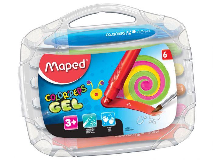 Geelkriit Color Peps 6 värvi plastkarbis, Maped