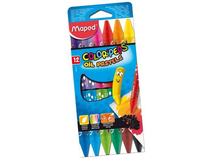 Õlipastellid Color Peps 12värvi, Maped