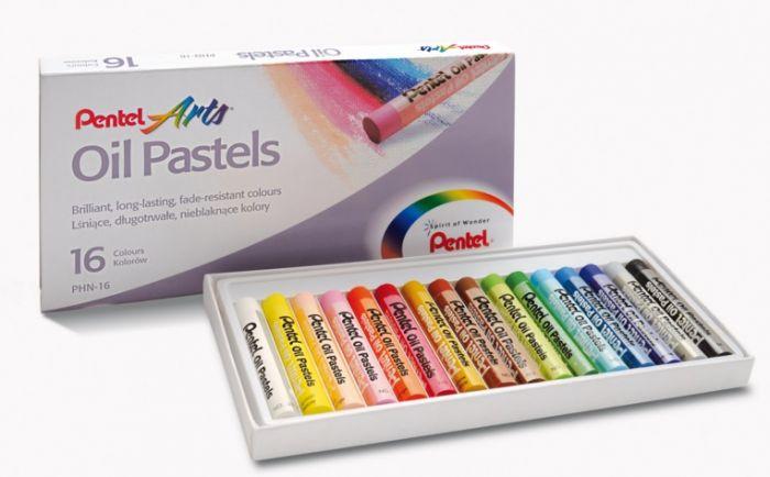 Õlipastellid 16 värvi, Pentel