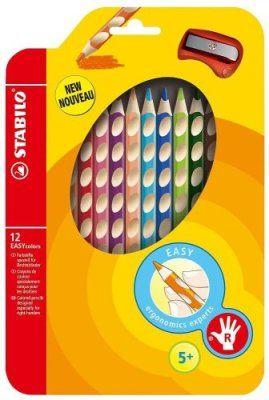 Värvipliiats Stabilo EASYcolors,12 värvi,paremkäsi