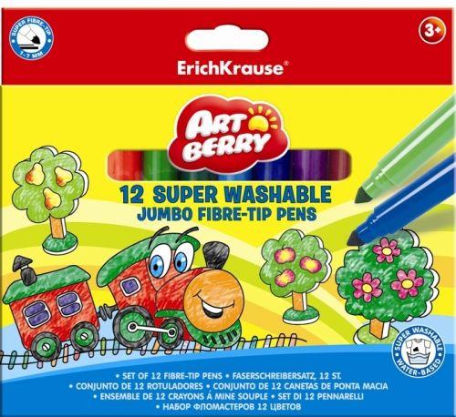 Viltpliiatsid Erich Krause 12 värvi super jumbo Artberry/box (pehme pliiats)