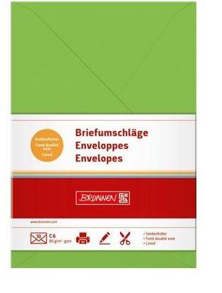 Envelope C6  10pcs light green, Brunnen