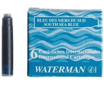 Tindiballoon Waterman International/lühike sinine (sea), 6tk/pk