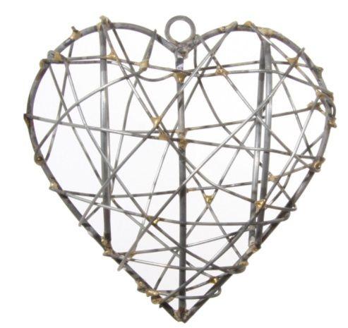8a28184ab4e Jõulukaunistus kuusele, 8,5cm, kuldsest võrgust süda