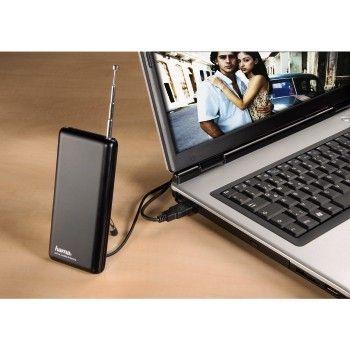 0936ba0305a TV-Antenn Hama Mobile DVB-T sülearvutite USB-tuuneritele. võimendi 20dB,  USB-toide/toiteadapter