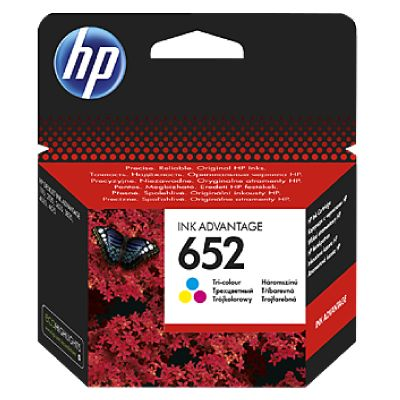 Tint HP 652 Tri-color Cyan/Magenta/Yellow Original Ink Advantage Cartridge (200 pages)