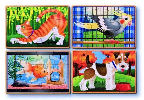 Mosaiikpilt  Loomad, 12 osa, 4 erinevat komplektis, 3+