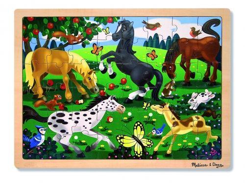 Mosaiikpilt Hobused, puust, 48 osa, 40 x 30 cm, 4+