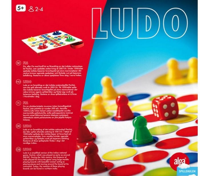 Lauamäng Ludo / Reis ümber maailma, 2-4 mängijat, 5+