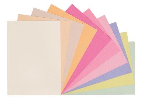 Värviline paber taaskasutatud paberist, 100 g, A4, 10 värvi x 25 lehte