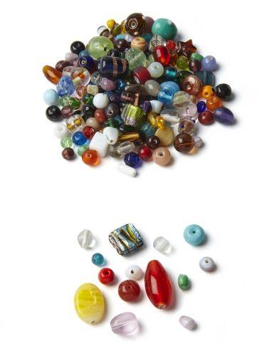 Klaaspärlid, assortii, ava 1 mm, 1 kg