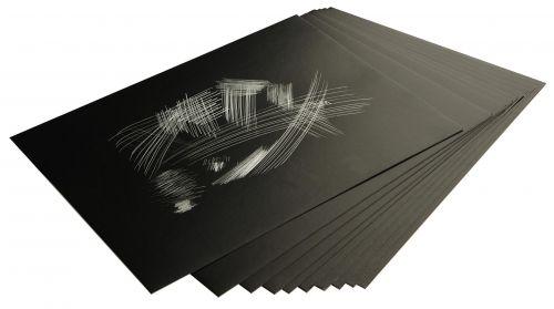 Kraapimiskartong 30 x 22 cm, hõbedane, 10 lehte