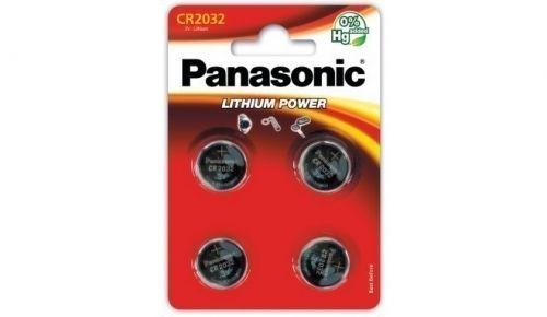 Patareid Panasonic CR2032/4B, 4 patareid, 3V Lithium  220mAh diam 20mm h 3,2mm