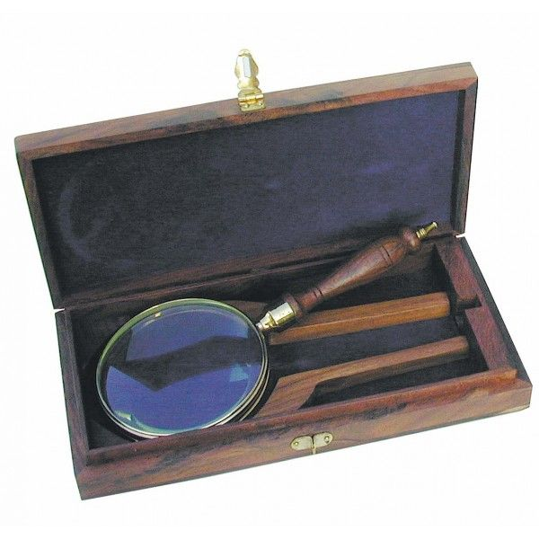 Luup puidust käepidemega, karbis 11 cm, läbimõõt 4,5 cm, Merenodi