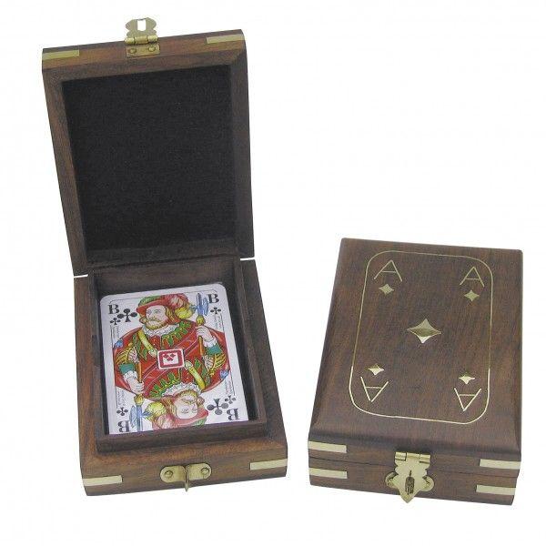 Mängukaardid puidust karbis 11,5x9x3,7 cm, Merenodi