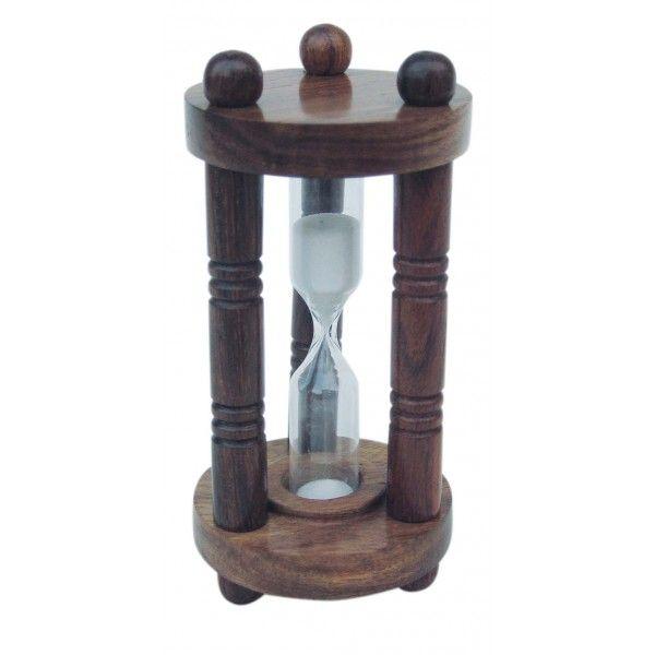 Liivakell puit, 3 minutit, kõrgus 10,5 cm, läbimõõt 5 cm, Merenodi