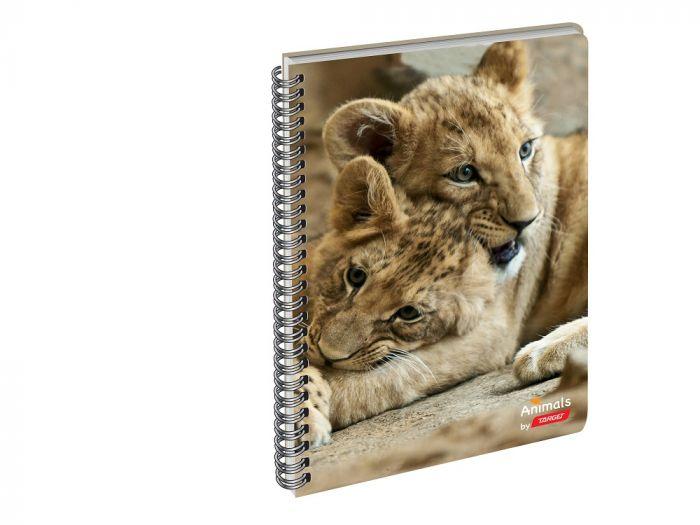 Kaustik A4 Target Loomad, spiraalkinnitusega, 52 lehte, 80g, jooneline
