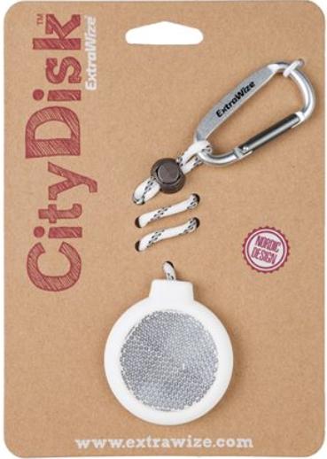 Helkur CityDisk valge (nööri pikkus 15-30cm)