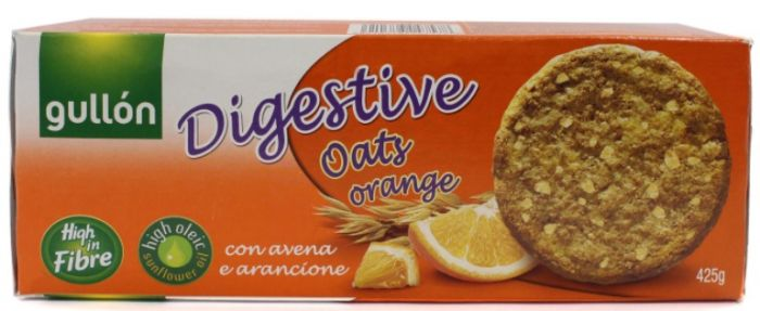 Küpsised Gullon Digestive kaera ja apelsiniga 425g