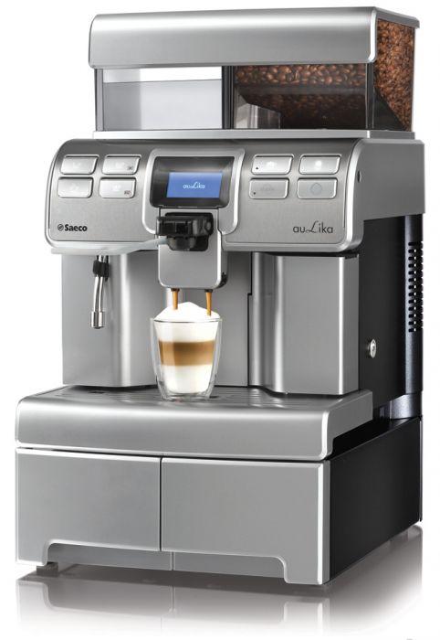 Espressomasin Saeco Aulika Top HSC (high speed cappuccino) 1YW 1400W veepaak 4L, oakonteiner 1kg (kuni 60 kohvi päevas)
