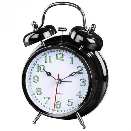 Äratuskell Hama `Nostalgia` Alarm Clock, black/must, 12.5x6,5x17cm, 1xAA patarei