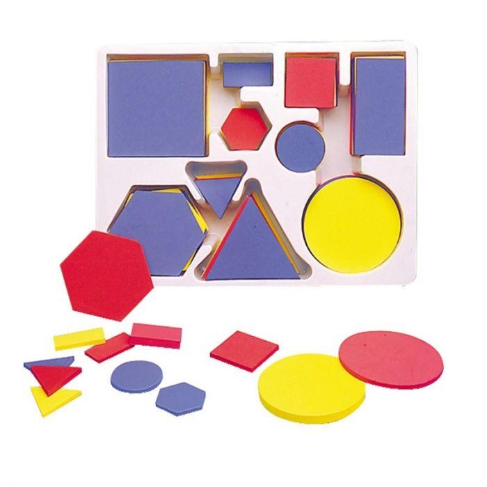 Geomeetrilised kujundid, klassikomplekt, 60 osa