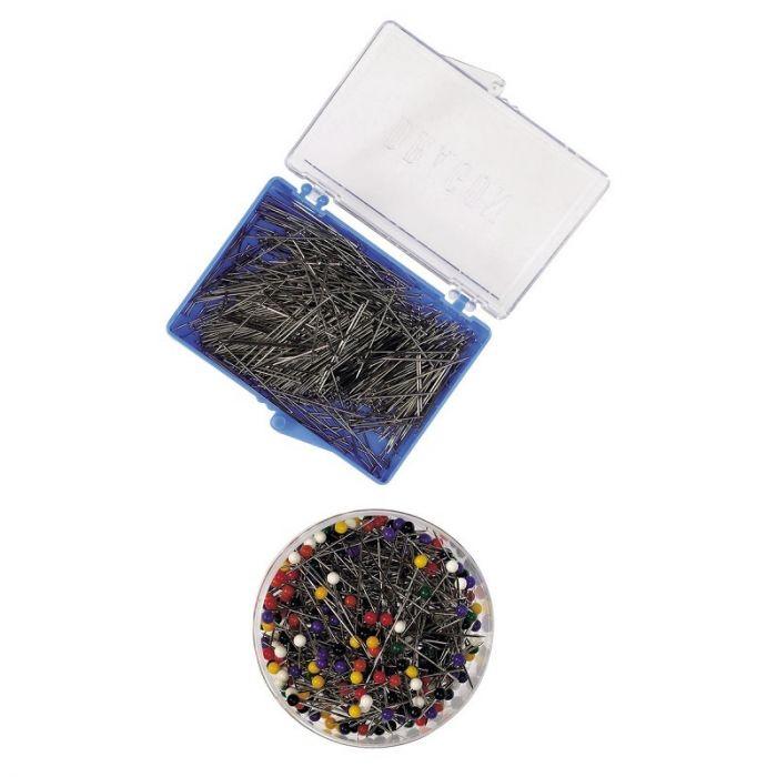 Nööpnõel värvilise plastnupuga, 30 x 0,6 mm, u 300 tk