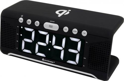 Kellraadio Soundmaster UR800SW, FM-raadio, LED-ekraan, juhtmevaba laadimisalus, USB-laadimisport