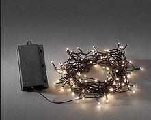 Valguskett 128 ww LED tulega, taimer 6H, must kaabel/ L-1320cm, lisada patareid 4xD/ õue, siseruumi
