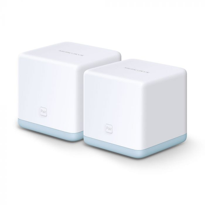 Mercusys AC1200 Whole Home Mesh Wi-Fi System Halo S12 (2-Pack) 802.11ac, 300+867 Mbit/s, 10/100 Mbit/s, Ethernet LAN (RJ-45) ports 2, Mesh Support Yes, MU-MiMO Yes, White