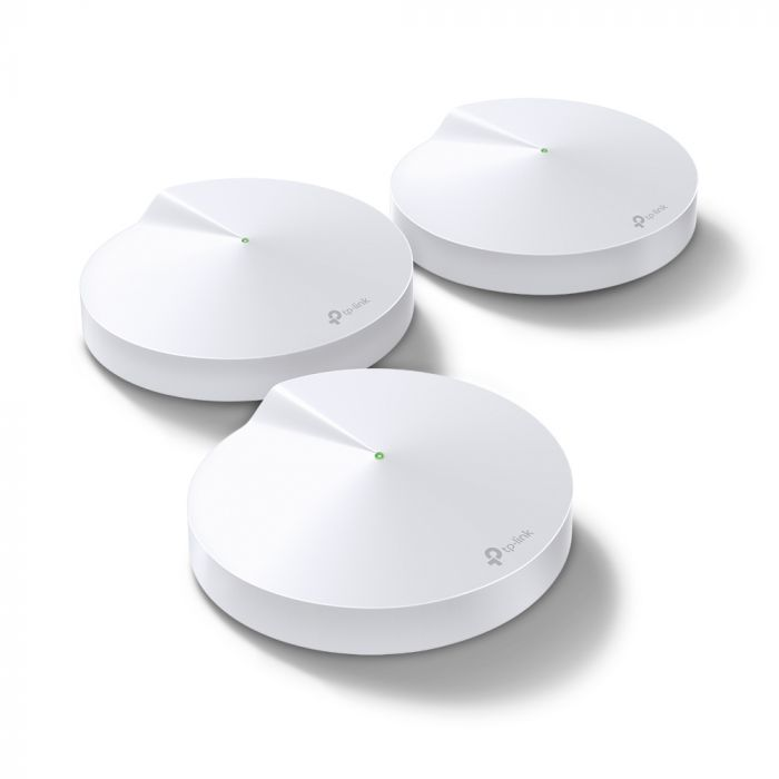 TP-LINK Mesh WiFi System Deco M9 Plus (3-Pack) 802.11ac, 867 Mbit/s, 10/100/1000 Mbit/s, Ethernet LAN (RJ-45) ports 2, Mesh Support Yes, MU-MiMO Yes, Antenna type 8 x Internal antennas
