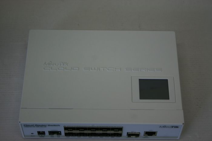 SALE OUT. MikroTik Cloud Router Switch 212-1G-10S-1S+IN with Atheros QC8519 400Mhz CPU, 64MB RAM, 1xGigabit LAN, 10xSFP cages, 1xSFP+ cage, MikroTik CRS212-1G-10S-1S+IN Cloud Router Switch Managed, D