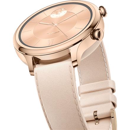 TicWatch Smart Watch C2 plus NFC, GPS (satellite), AMOLED, Heart rate monitor, Waterproof, Bluetooth, Rose Gold, Wi-Fi