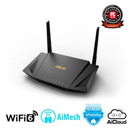 Asus Router RT-AX56U 802.11ax, 10/100/1000 Mbit/s, Ethernet LAN (RJ-45) ports 4, Mesh Support Yes, MU-MiMO Yes, 3G/4G via optional USB adapter, Antenna type External, 1xUSB 2.0, 1xUSB 3.1 Gen 1, WiFi