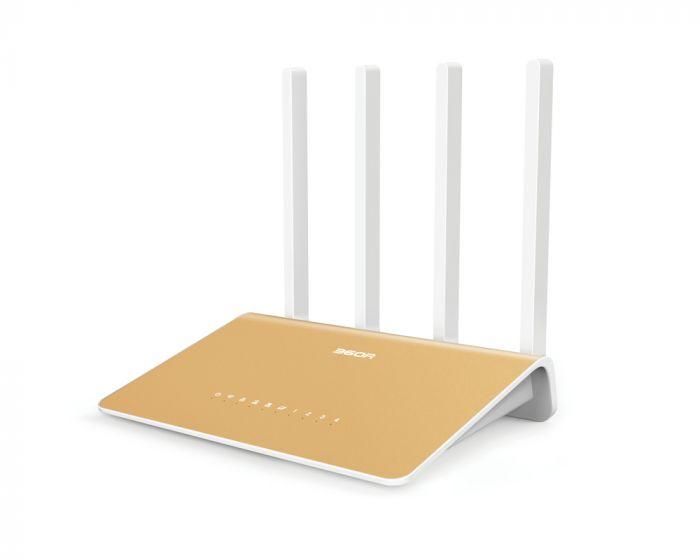 Netis Router AC1200 360R 802.11ac, 300+867 Mbit/s, 10/100/1000 Mbit/s, Ethernet LAN (RJ-45) ports 4, Antenna type 4xExternal, 1 x USB 2.0