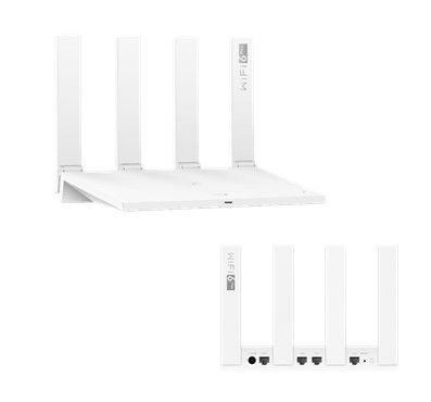 Huawei WiFi Router AX3 (Quad-core) 802.11ax, 574+2402 Mbit/s, 10/100/1000 Mbit/s, Ethernet LAN (RJ-45) ports 3, Antenna type External