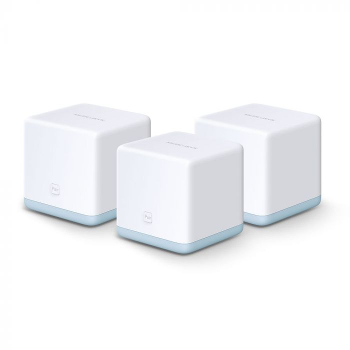 Mercusys AC1200 Whole Home Mesh Wi-Fi System Halo S12 (3-Pack) 802.11ac, 300+867 Mbit/s, 10/100 Mbit/s, Ethernet LAN (RJ-45) ports 2, Mesh Support Yes, MU-MiMO Yes, White
