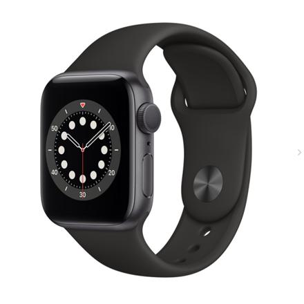 Apple Aluminium Case with Sport Band - Regular LT Series 6 GPS 40mm, Smart watch, GPS (satellite), LTPO OLED Retina, Touchscreen, Heart rate monitor, Waterproof, Bluetooth, Wi-Fi, Black